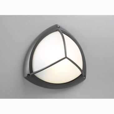 Exterior light but round and light gray-