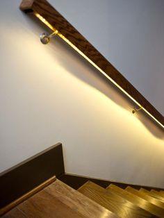 LED Tape Light Under Hand Rail