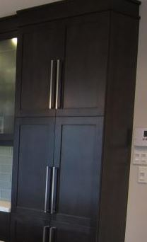 Kitchen Lower Cabinets and Livingroom Built Ins - Espresso Cabinets