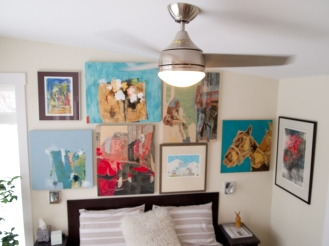 ceiling fan in bedroom designed by deborah nicholson