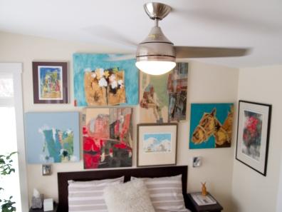 ceiling fan in bedroom designed by deborah nicholson