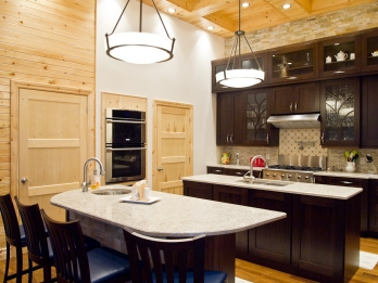 Create daylight ambiance in kitchen with many light layers, full dimming, excellent task light